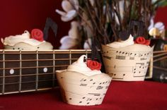 Musical Cupcake Wrappers! Perfect for a piano recital!