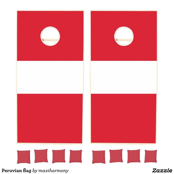 Peruvian flag cornhole set