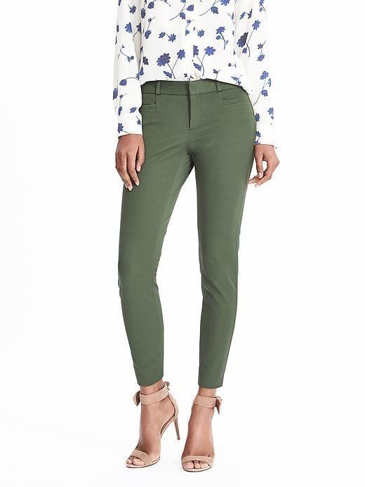 Banana Republic Womens Sloan Skinny-Fit Solid Pant Flight Jacket b29411f92