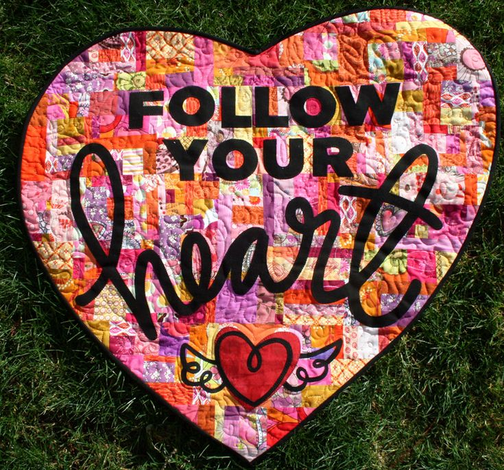 Follow Your Heart Mini This quilt was part of an online challenge to create a unique mini quilt (more more than 36″ any side). I incorporated my own hand-writing and …