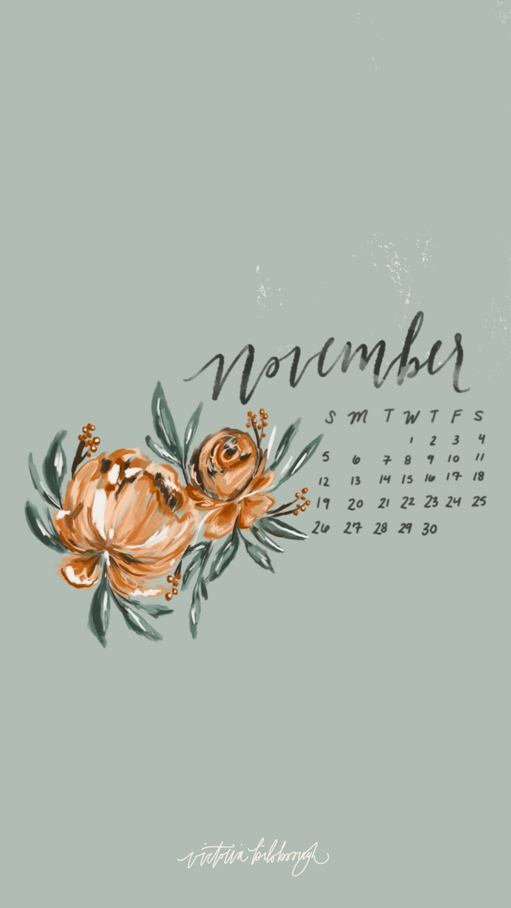 November + Thanksgiving Wallpapers | victoriabilsborough.com