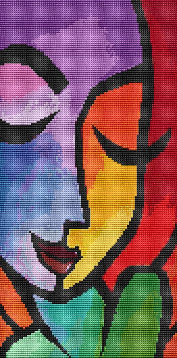 Cross Stitch Kit 'Chance' By Thomas Fedro  Modern by GeckoRouge, $67.00