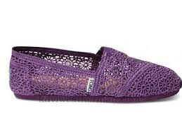Toms Natural Crochet Womens Shoes Purple hot sale online with the cheap price at $28.95.http://www.tomsshoesforsunmmer.com
