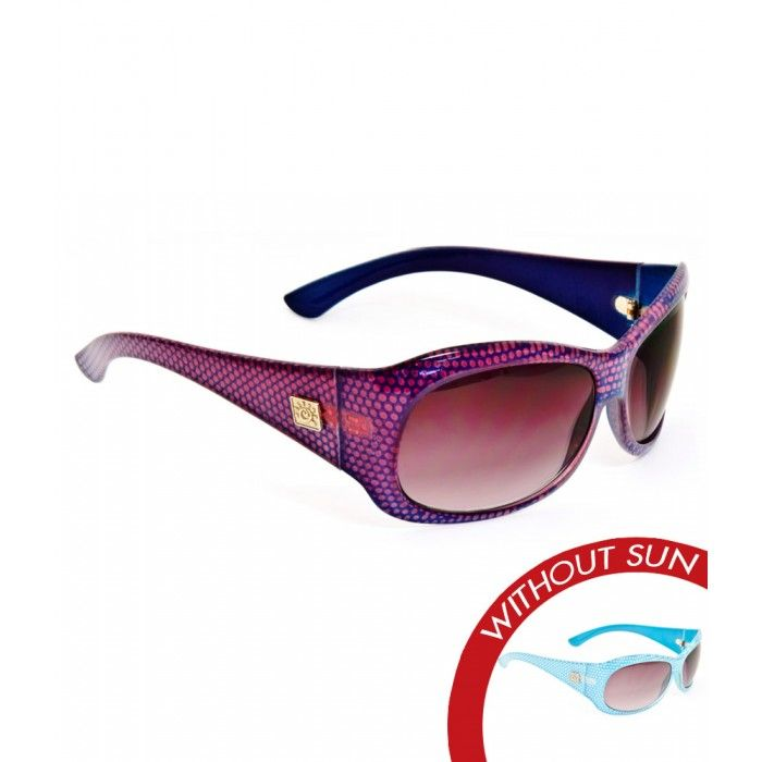 Color-Changing Solize Sunglasses for $49.00 - Peggy Sue - Blue to Fuchsia - Women's Polarized Sunglasses - Image With Sun