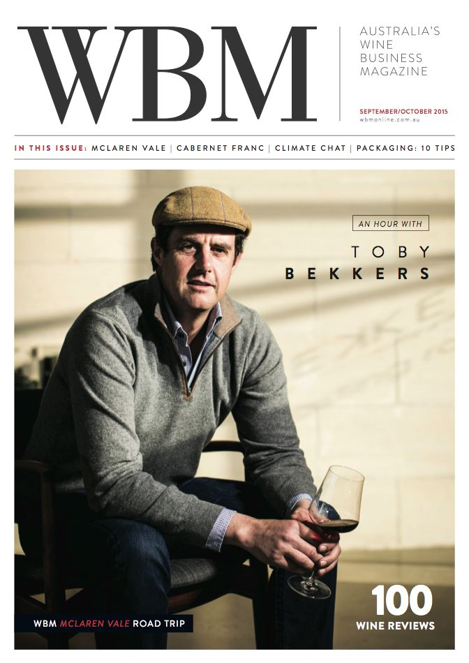 WBM Magazine September/October 2015 edition cover, featuring Toby Bekkers.