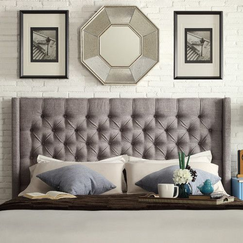 Found it at Wayfair.ca - Crawley Upholstered Wingback Headboard