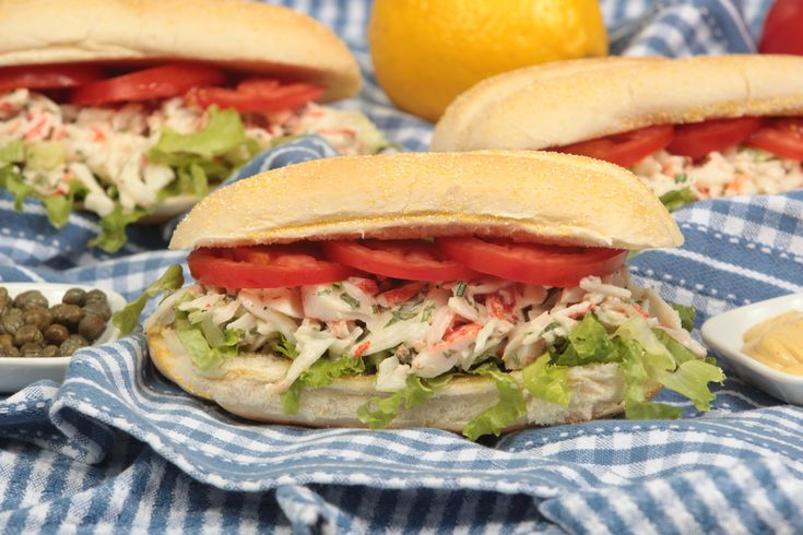 Italian Style Seafood Sandwich - Add some seafood into the mix for the perfect lunch time meal idea.