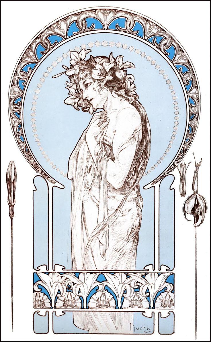 "from ""Documents Decoratifs"" (1901) ~ Alphonse Mucha"