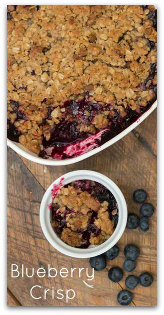 Easy Blueberry Crisp Recipe