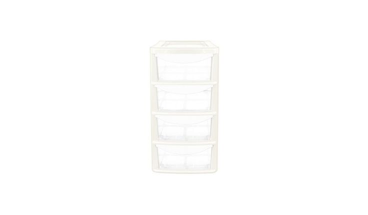 ASDA 4 Drawer Small Tower, read reviews and buy online at George at ASDA. Shop from our latest range in Home & Garden. This small sized 4 drawer unit is a fa...