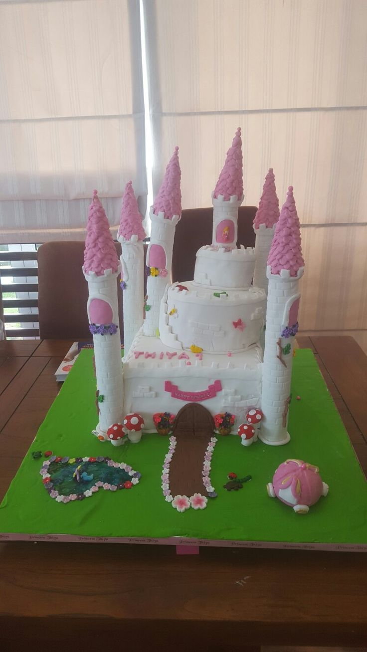 First birthday castle cake attempt!