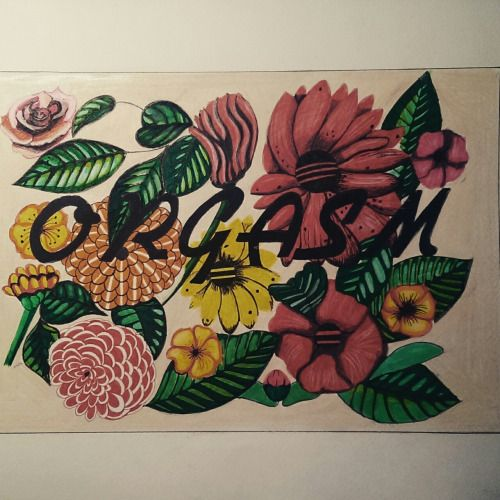 A new meaning for the word Orgasm. No sexual conotation, just visual pleasure of vintage flowers. By Adi Paun #orgasm #floral #illustration #orgasmicsextape #color #colors #pencils