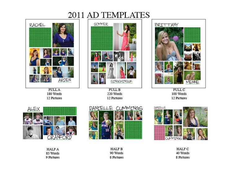 25 best ideas about senior ads on pinterest senior for Free online yearbook templates