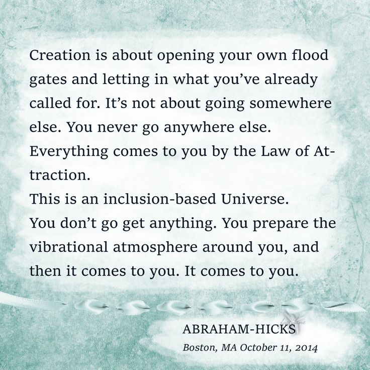 ABRAHAM-HICKS ''You don't go get anything.'' ➡https://www.facebook.com/profile.php?id=100011441044320