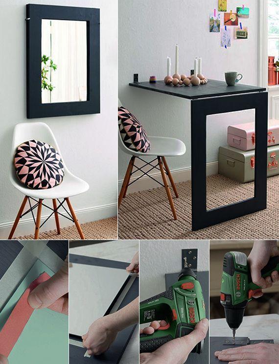 Enge Und Kleine Raume Einrichten Mit Modernem Klapptisch Kleine Raume Einrichten Platzsparende Mobel Zimmer Dekor Ideen