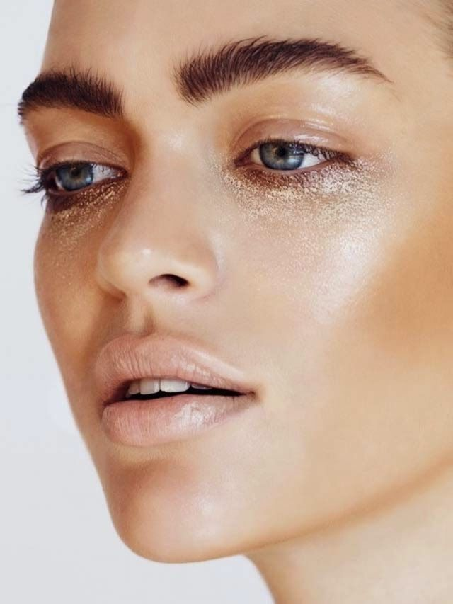 """Under eye circles be gone! Just add Kevyn Aucoin Loose Shimmer Shadow in """"Citrine"""" ($29.00) from crcmakeup.com."""