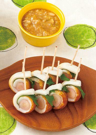 新生姜とちくわのくるくる巻き ネギみそディップ のレシピ・作り方 │ABCクッキングスタジオのレシピ | 料理教室・スクールならABCクッキングスタジオ