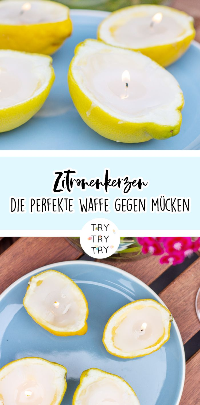 Zitronenkerzen – Perfektes Mittel gegen Mücken!