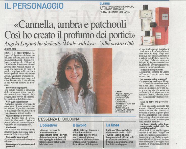 #Cannella, #ambra e #patchouli. Così ho creato il profumo dei portici.  Intervista ad Angela Laganà sul Resto del Carlino di #Bologna. #madewithlove #profumo #nicchia