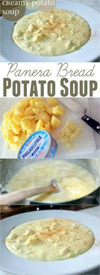 Copy Cat Panera Bread Potato Soup ~ Super simple, creamy and delicious... It's a winner!