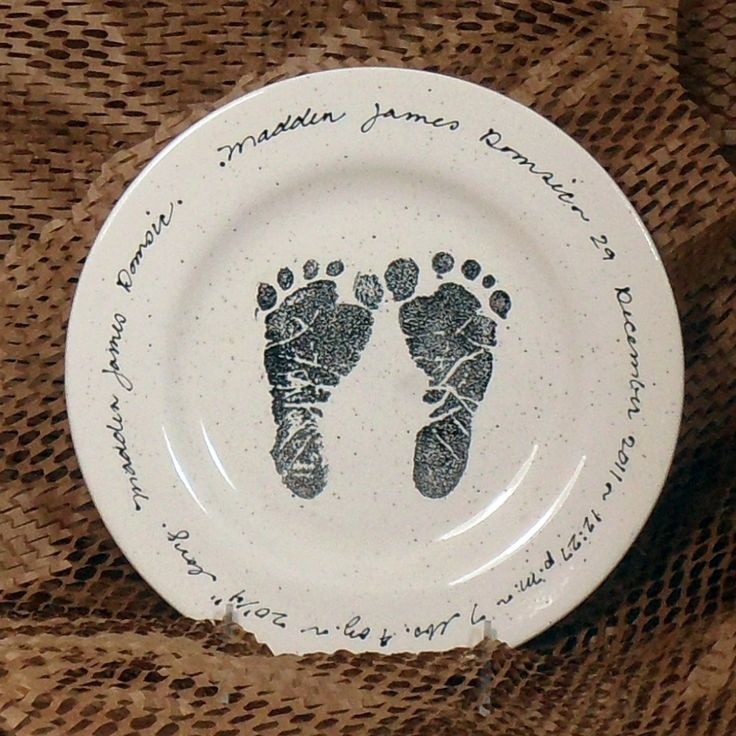 141 best personalized gifts images on pinterest baby family baby feet birth plate negle Images