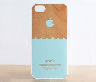 Minty blue waves iPhone case