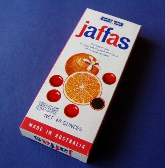 Vintage confectionary JAFFAS box