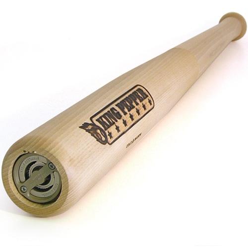 Een pepermolen even groot als een honkbalknuppel, Dat is de King Pepper Honkbal pepermolen. #hout