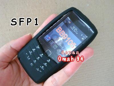 Silicone Case Full Keypad Blackberry Pearl 9100 / 9105 Black / Hitam