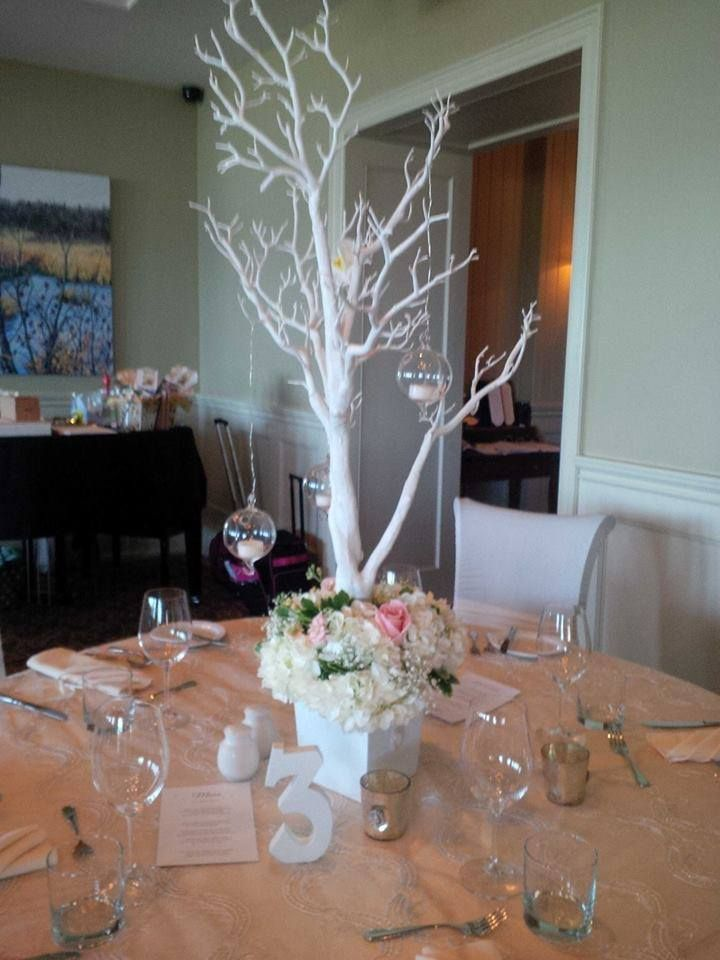 Orchid Manzanillo Tree's with Hanging Votives and Fresh Floral