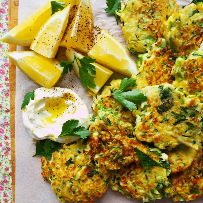 zucchini, brussel sprout & halloumi fritters | my lovely little lunch box