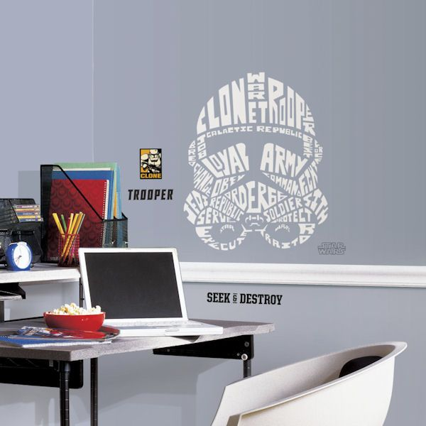 Star Wars Storm Trooper Typographic Wall Decal   Wall Sticker Outlet Part 76