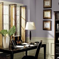 Benjamin Moore home office purple paint colour palette