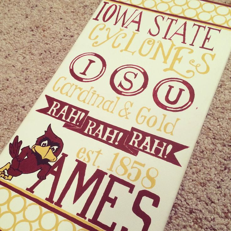 DIY Iowa State Canvas