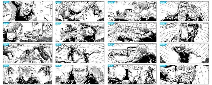 Mark Sexton's Mad Max Storyboards