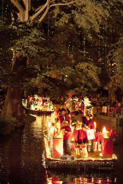 The Ford Holiday River Parade is an annual favorite that takes place the day after Thanksgiving. Details: http://visitsanantonio.com/holiday
