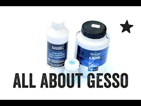 ▶ All about gesso - Mixed Media Art Tutorial - YouTube