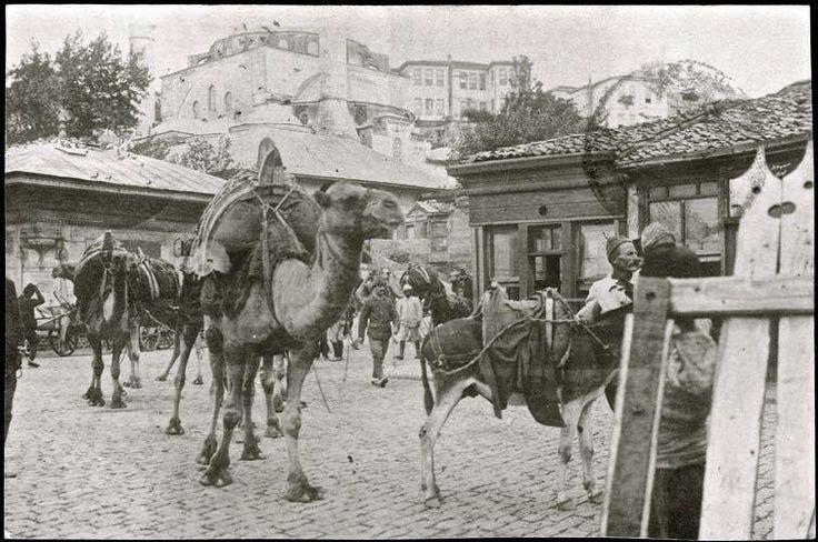 Üsküdardan ticaret için geçen deve kervanı - 1892