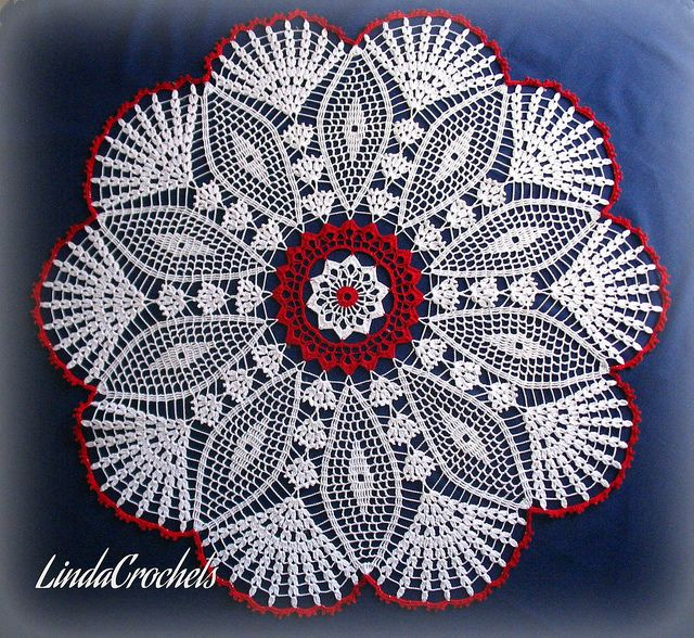 PHOTO ONLY ~ ................................ Fans and Diamonds doily | Flickr - Photo Sharing!