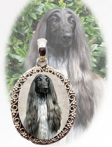 Afghan Hound Necklace.  This is photo jewelry and I make them using your dogs photo so it is very special! #afghanhound #afghanhoundlover #simplyitalydesigns #doglovers #doglovergifts #dogs #photojewelry #photokeepsake #keepsake #dogproducts #doggifts