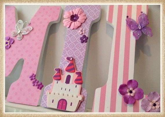 Princess Nursery. Baby Girl Letters. Butterflies. Baby