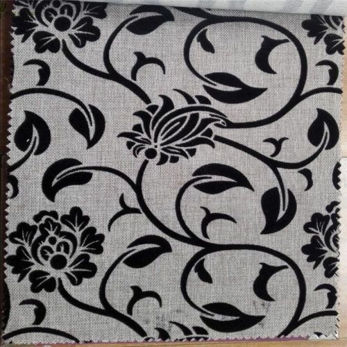 Traditional Flocked Fabric For Sofa Covers Brown Color Flower Design21