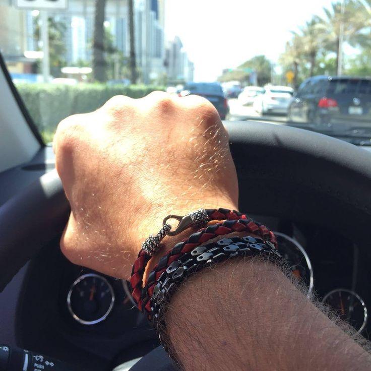 Magnifique, bracelet en cuir pour homme