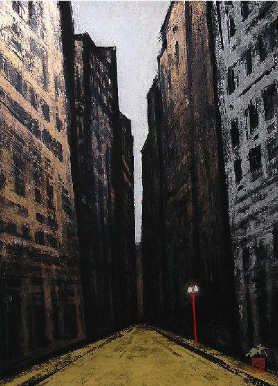 横山操『ウォール街』|artwiki-作家・作品などの美術情報を発信するサイト-