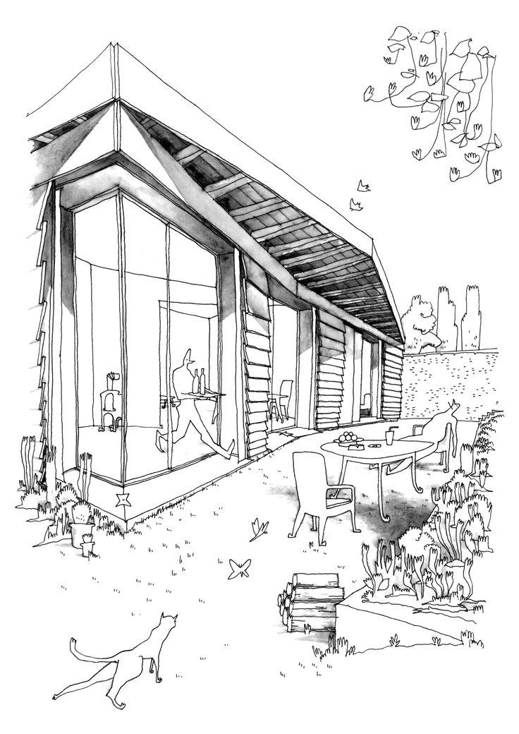 Die besten 17 bilder zu architektur skizze auf pinterest - Architektur skizze ...