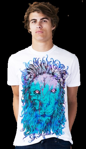 Royal Blood T-shirt by Dara from Design By Humans. Ever been to a party with a lion? You will with this shirt, if you go to a party. A colorful, powerful and illustrative lion shirt, so you can feel like the king of the party.