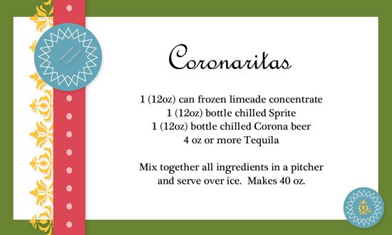 Coronaritas Recipe Card by StampinSharon - Cards and Paper Crafts at Splitcoaststampers - Yummy & Crafty
