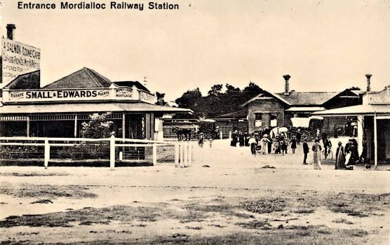 Mordialloc looking towards station - now Main Street on the left