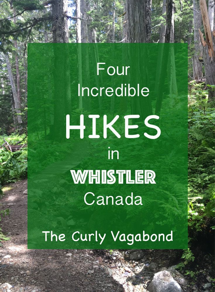 Whistler is a hiking mecca. The Curly Vagabond highlights Cheamakus Trail (Garibaldi Provincial Park), Rainbow Madeley Lakes Trail - East Trailhead, Whistler Train Wreck, and Stawamus Chief Trail in neighboring Squamish.