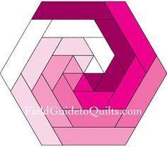 Tutorials for several log cabin hexagonal blocks …